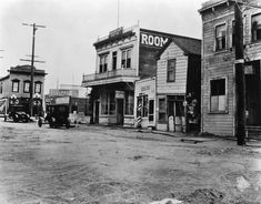(1910)^^ - View of Front Street (the site of 'new' City Hall) in San Pedro, Los Angeles.