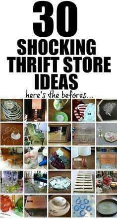 30 Thrift Store Makeovers for All Seasons E-book - Redhead Can Decorate The Eff. - 30 Thrift Store Makeovers for All Seasons E-book – Redhead Can Decorate The Effective Pictures W - Thrift Store Shopping, Thrift Store Crafts, Thrift Store Finds, Shopping Hacks, Thrift Stores, Online Thrift, Thrift Store Furniture, Upcycled Furniture, Second Hand Stores