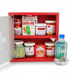 Specialty Gifts: Get Well Medicine Cabinet- posting for cute Idea change ingredients to include healthier soup choices