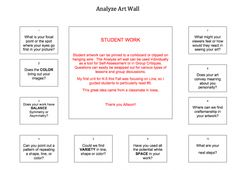 Analyze art wall. Such a great Idea! From http://theartofed.com/
