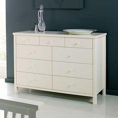 Debenhams Ivory atlantis nine drawer chest - Drawers - Furniture - Home & furniture -