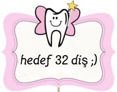 Diş buğdayı konuşma balonu Dental Logo, First Tooth, Baby Shower Diapers, Tooth Fairy, Love My Job, Wallpaper Backgrounds, Party Time, Teeth, Diy And Crafts