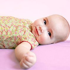 At 1-3 months babies start to smile spontaneously.