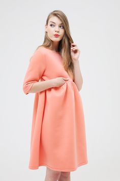 Keyhole Back Smock Dress Coral http://www.thewhitepepper.com/collections/new-in/products/keyhole-back-smock-dress-coral #TWp