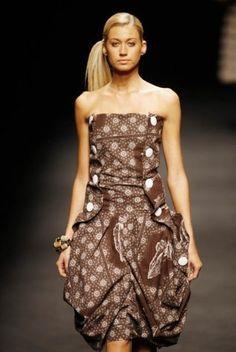 Shweshwe Design by Palesa Mokubung African Inspired Fashion, African Fashion, African Textiles, African Prints, Strapless Dress Formal, Prom Dresses, Shweshwe Dresses, Unique Fashion, Womens Fashion