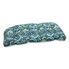 Give your outdoor loveseat a boost of color and style with the Pillow Perfect Pretty Paisley Navy Wicker Loveseat Cushion . Featured in a detailed paisley. Outdoor Wicker Chairs, Outdoor Loveseat, Outdoor Seat Cushions, Bench Cushions, Urban Outfitters, Rustic Decorative Pillows, Living Room Decor Pillows, Living Rooms, Layout
