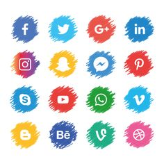 Social media icons sets PNG and Vector Icon Design, Logo Design, Design Design, Design Layouts, Stand Design, Booth Design, Flat Design, Banner Design, Graphic Design