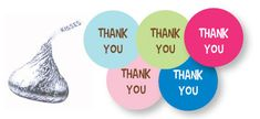 FREE printable Hershey's Kiss Thank You Labels