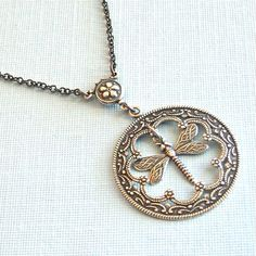 Silver Dragonfly Necklace   Pendant Dragonfly by mcstoneworks, $26.00