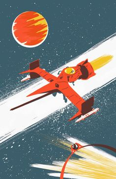 """shannon may // illustration: Swordfish II for """"See You Space Cowboy"""""""