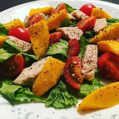 Tango w/ Mango - Presenting a summer salad with the king of the fruit world, which also holds a special place in my heart, and now in my tummy too!! Don't forget to Gobble Gobble!!