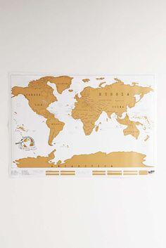 Slide View: 2: World Scratch Map