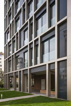landscape architecture - 50 marvelous Modern Facade Apartment Decor Ideas LivingMarch com Commercial Architecture, Facade Architecture, Residential Architecture, Contemporary Architecture, Building Exterior, Building Facade, Building Design, Design Exterior, Facade Design