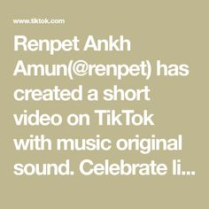 Renpet Ankh Amun(@renpet) has created a short video on TikTok with music original sound. Celebrate life, go outside, speak to people. Theres more to life thsn social media. Catch up with Fam. beware not everyone is happy with your glowup. Go Outside, The Outsiders, Spirituality, Celebrate Life, Social Media, The Originals, Celebrities, Music, Boutique