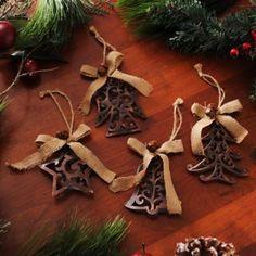 Pierced Bronze Ornaments, Set of 4 | Kirklands