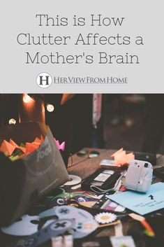 This is Your Mom Brain on Clutter - Single Mom To Boys - Ideas of Single Mom To Boys - A messy and cluttered house is one of the biggest causes of anxiety in moms. This is what mom brain looks like in a disorganized home environment. Kids Room Organization, Organization Hacks, Household Organization, Organizing, Mom Brain, Anxiety Causes, Raising Girls, Happy Mom, Hanging Pictures