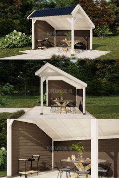 Modern Barn, Landscape, Scenery, Corner Landscaping