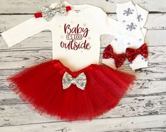 Excited to share this item from my shop: Baby Its Cold Outside Baby Girl Christmas Outfit Red Tutu Newborn Girl Christmas Shirt Christmas Bodysuit Christmas Baby Its Cold Outfit Newborn Christmas, Christmas Baby, Christmas Onesie, Christmas Eve, Baby Girl Shirts, Shirts For Girls, Baby Girl Items, Baby Design, Girls Christmas Shirts