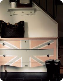 My House of Giggles: A pink Union Jack dresser...for Royal Wedding week!