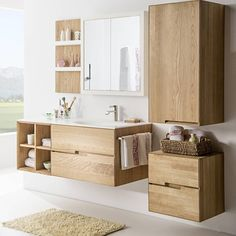 Claudiabecker saved to Quick SavesGefällt 6 Mal, 1 Kommentare - Standfest Wohnen im. Bathroom Vanity Units, Laundry In Bathroom, Bathroom Furniture, Oak Bathroom, Bathroom Design Small, Bathroom Interior Design, Modern Bathroom, Bad Inspiration, Bathroom Inspiration