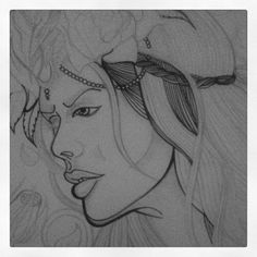 Decided to add some ink to one of the sketches from one of my digital pieces.  Will see how it turns out :) Thanks again to the amazing @lauradonohoephotography for her photo that inspired this ♥  #artistsofinstagram #likeforlike #workinprogress #illustrator #lineart #hysteriamachine #headdress #inspired #lauradonohoephotography  #unipoint #fineliner #drawing