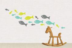 Multicolored Fish Wall DecalCute Fish Wall by PickArtDesign