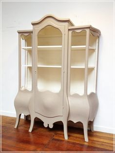 Large Shabby Chic Display Cabinet. Wish I had the room for this: It's a bit Willy Wonka
