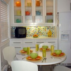 I love color and the tiles on this backsplash are so cute! Retro but modern