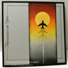 Plane – Stampin' Up! Card  by Michelle Zindorf