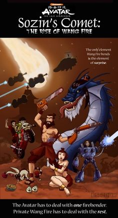 I'd watch this so hard! Hmm, Sokka probably drew this one too? I'D WATCH.