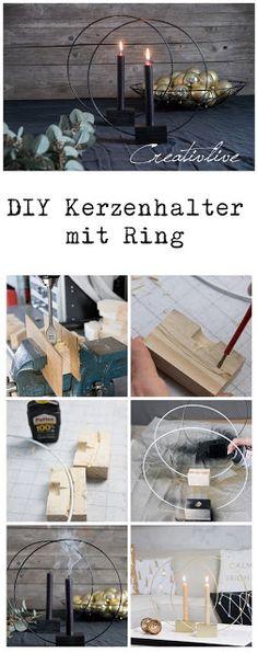 DIY Kerzenhalter RING