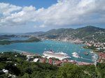 Postcard picture-perfect day overlooking the bay at Charlotte Amelie, St. Thomas, US Virgin Islands.