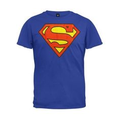Superman Mens Shield Logo T-Shirt ❤ liked on Polyvore featuring mens, men's clothing, men's shirts and men's t-shirts