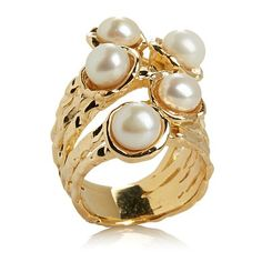 Shop Bellezza 6-6.5mm Cultured Freshwater Pearl Bronze Freeform Ring, read customer reviews and more at HSN.com.