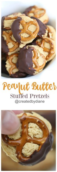 Sweet and salty snacking… who wouldn't love a treat like that?  These peanut butter stuffed pretzels will have you wishing it was snack time! I don't know about you, but pretzels are a favorite quick snack around my house. They're crispy, crunchy, salty and oh-so-satisfying! I also love the many varied shapes they come in.Just keeps things fun, and I'm all about fun… especially delicious fun! They keep things fun, and I'm all about fun… especially delicious fun! Of course, pretzels go with…