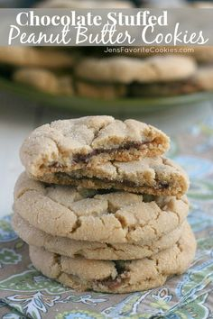 Chocolate Stuffed Peanut Butter Cookies from JensFavoriteCookies.com - for #chocPBday ! Come check out all 31 amazing chocolate and peanut ...