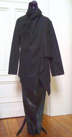 Schwarzer-Damen-Kurzmantel-XXL-Wollfilz- in Kleidung & Accessoires, Damenmode, Jacken & Mäntel | eBay!