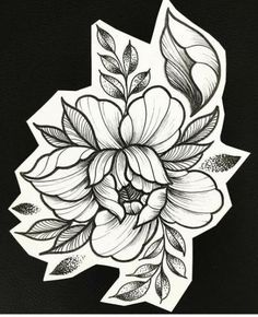 Best Flowers Tattoo Sketch Peony Ideas Beste Blumen Tattoo Skizze Pfingstrose Ideen This image has. Music Tattoos, Rose Tattoos, New Tattoos, Tattoos Skull, Floral Tattoo Design, Flower Tattoo Designs, Flower Designs, Trendy Tattoos, Small Tattoos