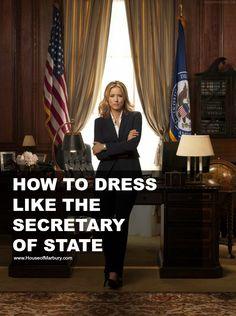 How to dress like the secretary of state via House of Marbury