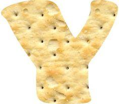 Oh my Alfabetos!: Alfabeto de galletas saladas.