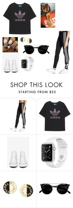 """On fleek"" by imgonz ❤ liked on Polyvore featuring adidas Originals, Converse and Chanel"