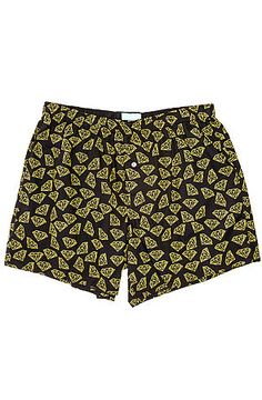 16dd34147ba9f The Diamond All Over Boxers in Black and Yellow by Diamond Supply Co. Diamond  Clothing