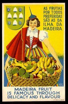 """Madeira """"frutas"""""""
