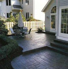 37 Ideas Concrete Patio Ideas On A Budget Cement Outdoor Spaces Concrete Patios, Cement Patio, Slate Patio, Patio Stone, Outdoor Spaces, Outdoor Living, Outdoor Decor, Outdoor Ideas, Patio Design