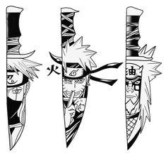 Kakashi, Naruto and Jiraiya Naruto Kakashi, Naruto Shippuden Anime, Naruto Art, Anime Naruto, Boruto, Naruto Drawings, Naruto Sketch, Kakashi Drawing, Naruto Tattoo