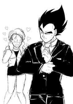 """nala1588: """"XD SUIT! """" When Vegeta in a suit is actually a thing ❤"""