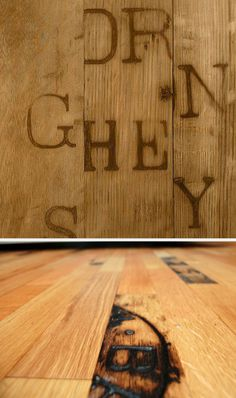 Whiskey barrel flooring. This is a must have when I eventually buy a house.