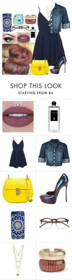 """""""Sans titre #295"""" by clo-23 ❤ liked on Polyvore featuring Serge Lutens, Glamorous, Chloé, Casadei, Wildfox, Rosantica and Fuji"""