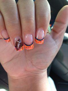 SuperBowl Nails! #Broncos #Orange