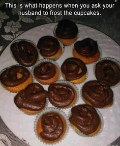 Looks more like she asked the dog to frost the cupcakes! Funny Pictures Of The Day – 33 Pics